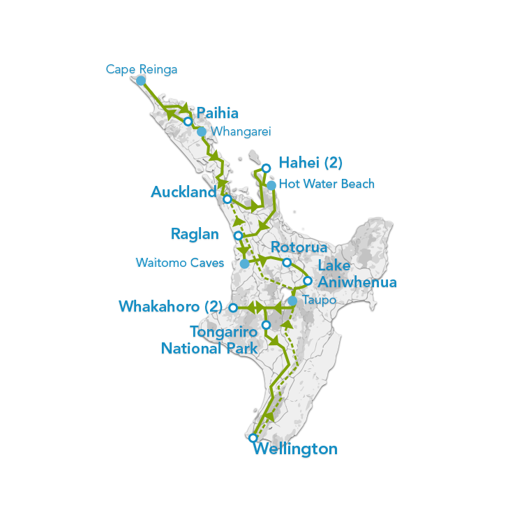 13 Day North Island Tour Planit NZ Travel