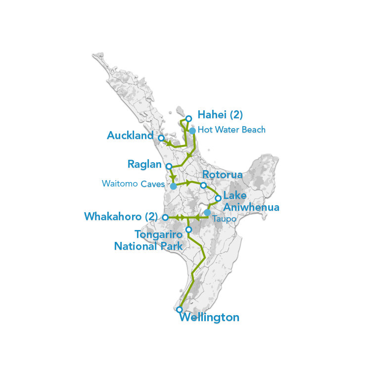 Auckland to Wellington Bus Pass 8 Days Planit NZ Travel